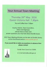 Annual Town Meeting Thursday 26th May 2016